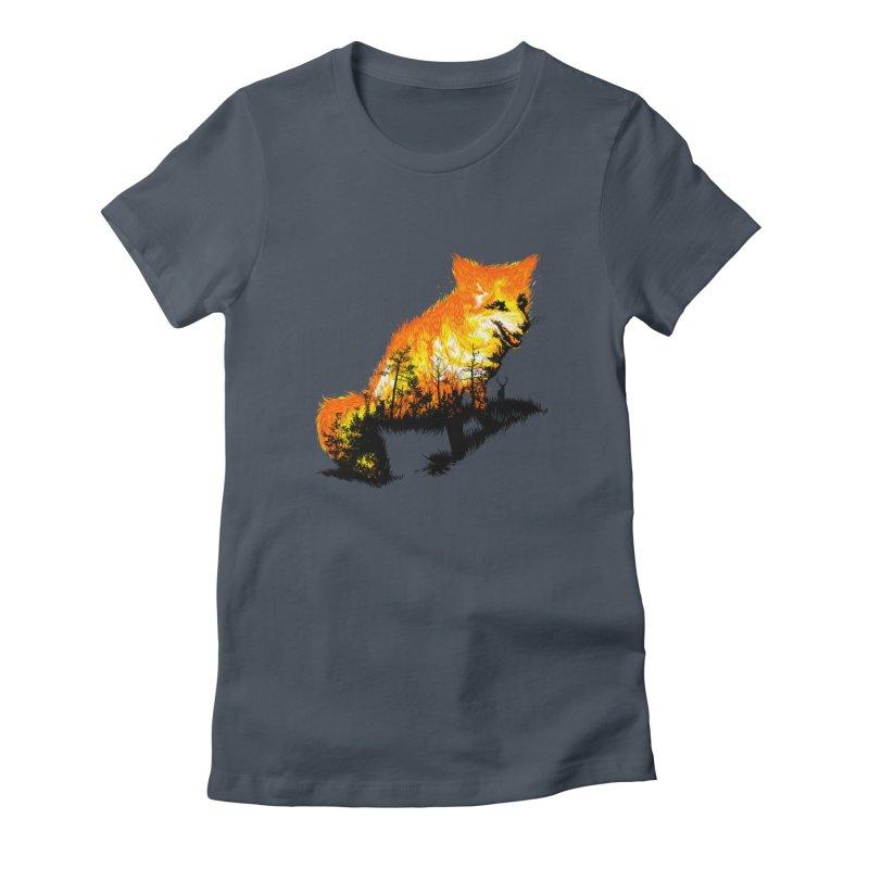 Fire Fox Women's T-Shirt by kooky love's Artist Shop