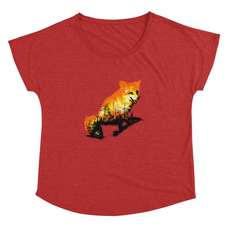 Fire Fox Women's Dolman Scoop Neck by kooky love's Artist Shop