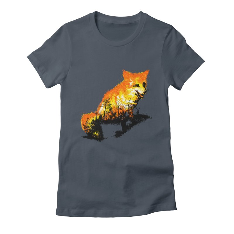 Fire Fox Women's T-Shirt by kooky love's Artist Shop