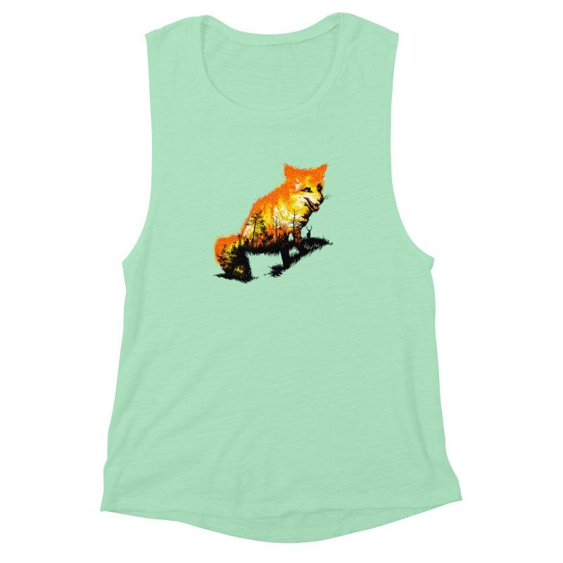 Fire Fox Women's Muscle Tank by kooky love's Artist Shop