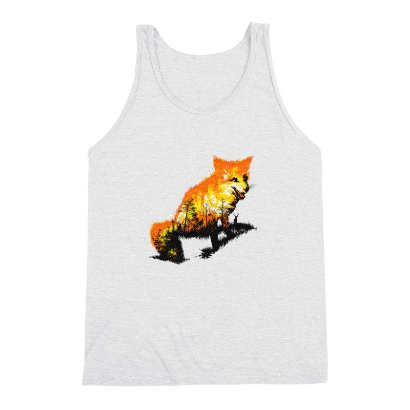 Fire Fox Men's Triblend Tank by kooky love's Artist Shop