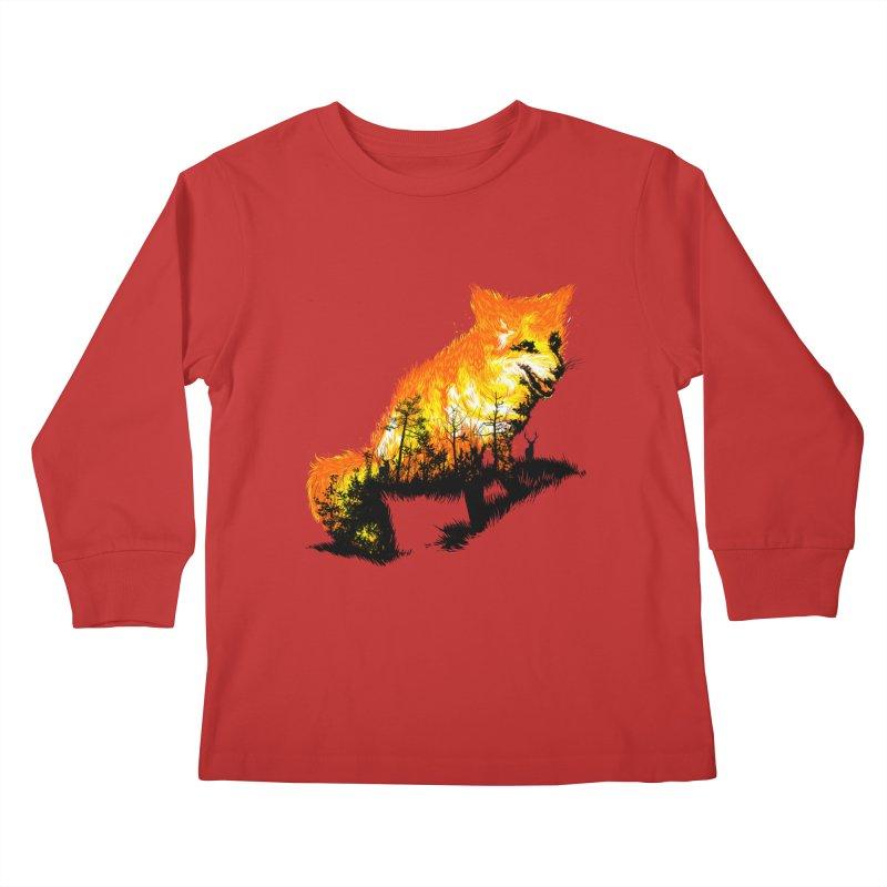 Fire Fox Kids Longsleeve T-Shirt by kooky love's Artist Shop