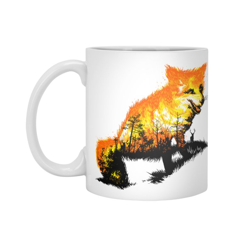 Fire Fox Accessories Standard Mug by kooky love's Artist Shop