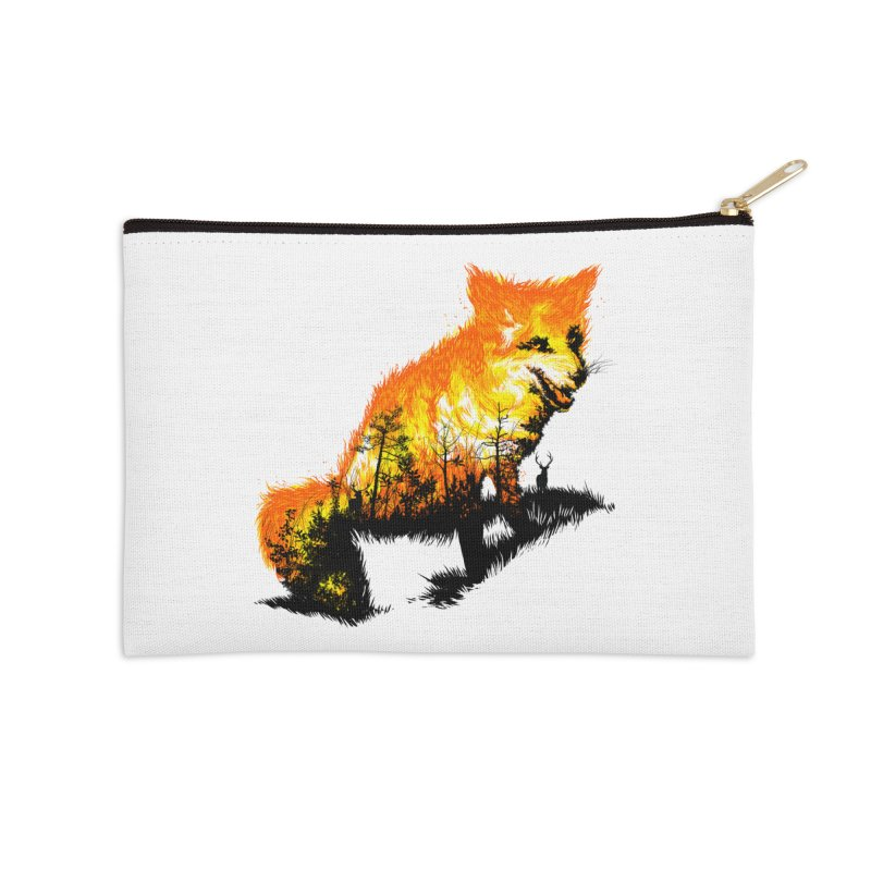 Fire Fox Accessories Zip Pouch by kooky love's Artist Shop