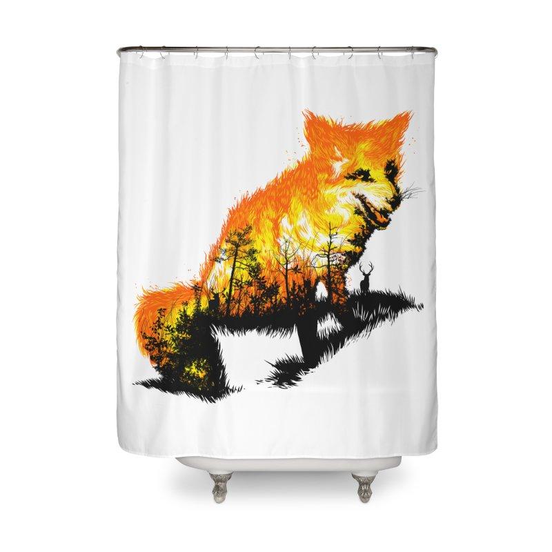 Fire Fox Home Shower Curtain by kooky love's Artist Shop