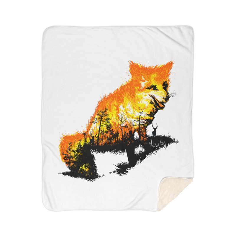 Fire Fox Home Sherpa Blanket Blanket by kooky love's Artist Shop