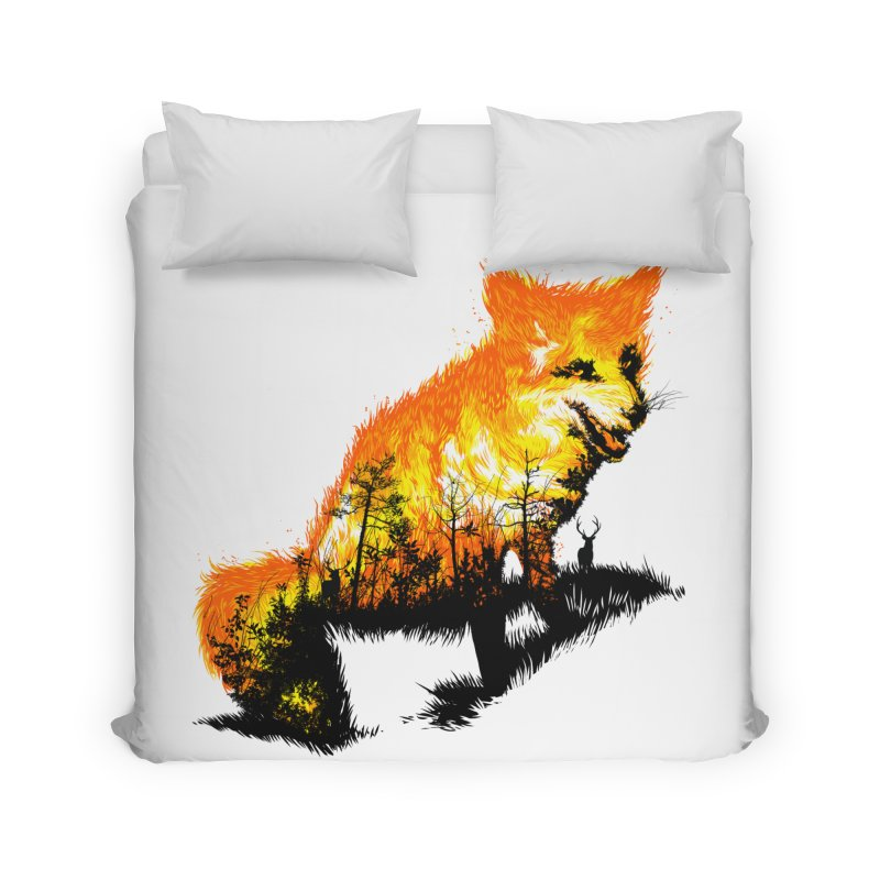 Fire Fox Home Duvet by kooky love's Artist Shop