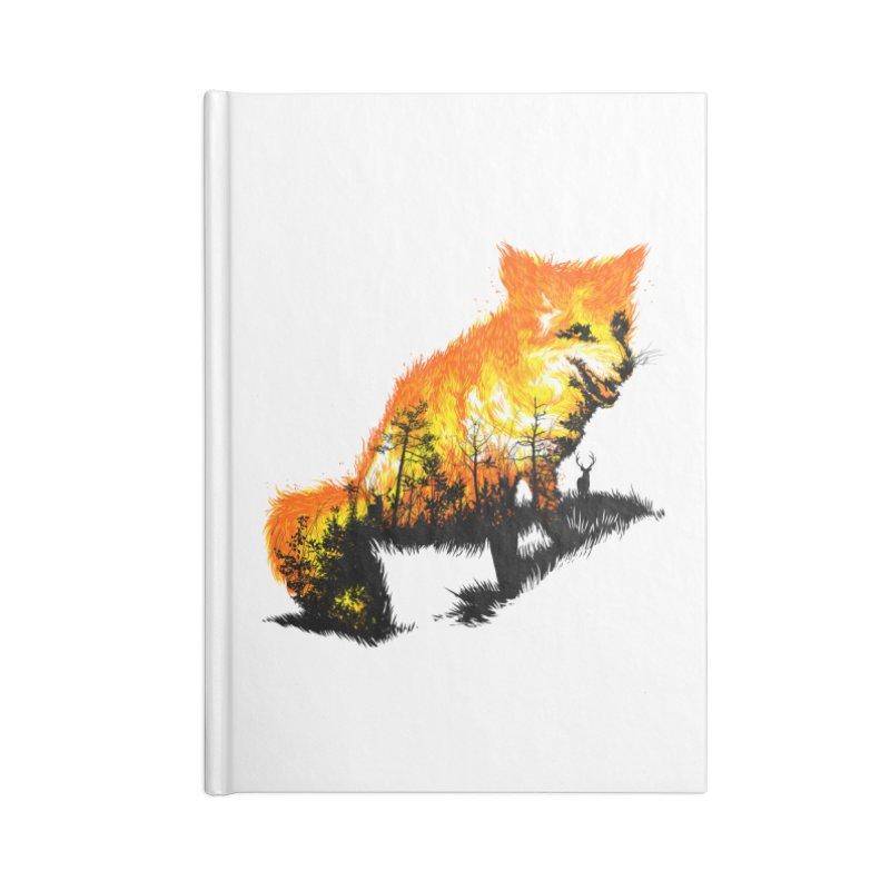 Fire Fox Accessories Lined Journal Notebook by kooky love's Artist Shop