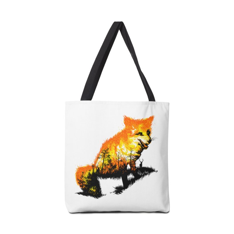 Fire Fox Accessories Bag by kooky love's Artist Shop