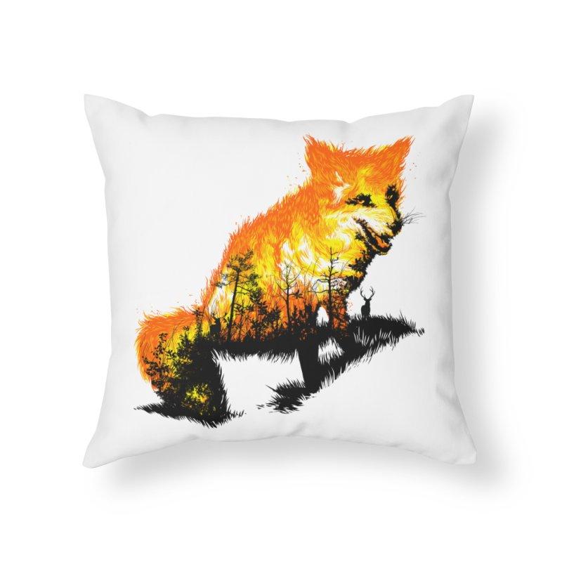 Fire Fox Home Throw Pillow by kooky love's Artist Shop