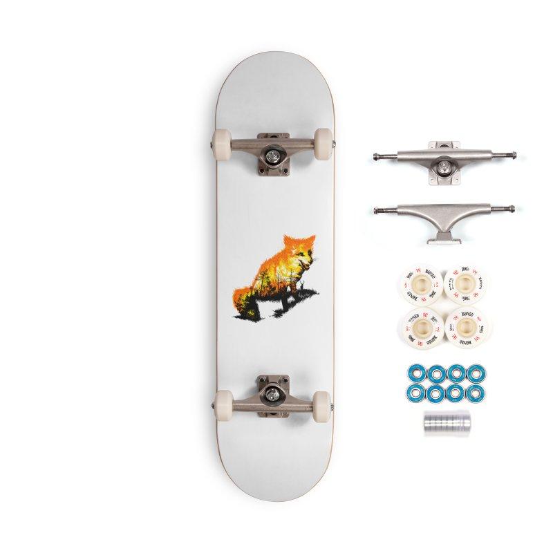 Fire Fox Accessories Complete - Premium Skateboard by kooky love's Artist Shop