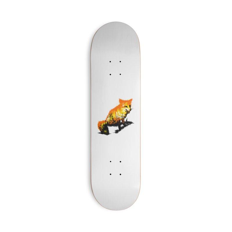 Fire Fox Accessories Deck Only Skateboard by kooky love's Artist Shop