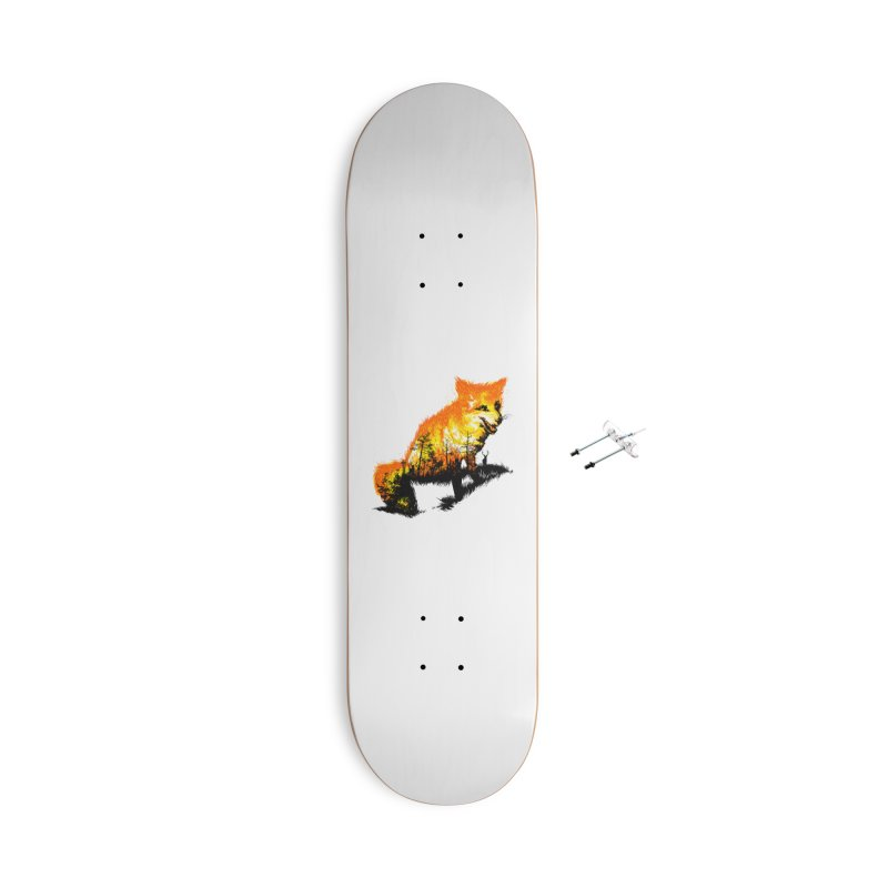 Fire Fox Accessories With Hanging Hardware Skateboard by kooky love's Artist Shop