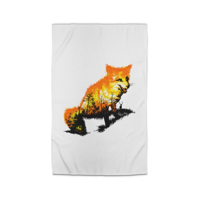 Fire Fox Home Rug by kooky love's Artist Shop