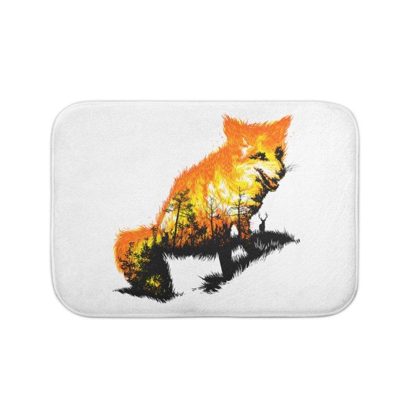 Fire Fox Home Bath Mat by kooky love's Artist Shop