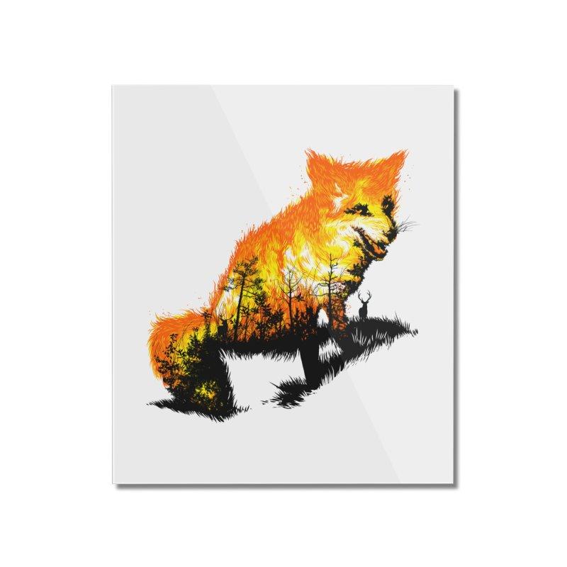 Fire Fox Home Mounted Acrylic Print by kooky love's Artist Shop