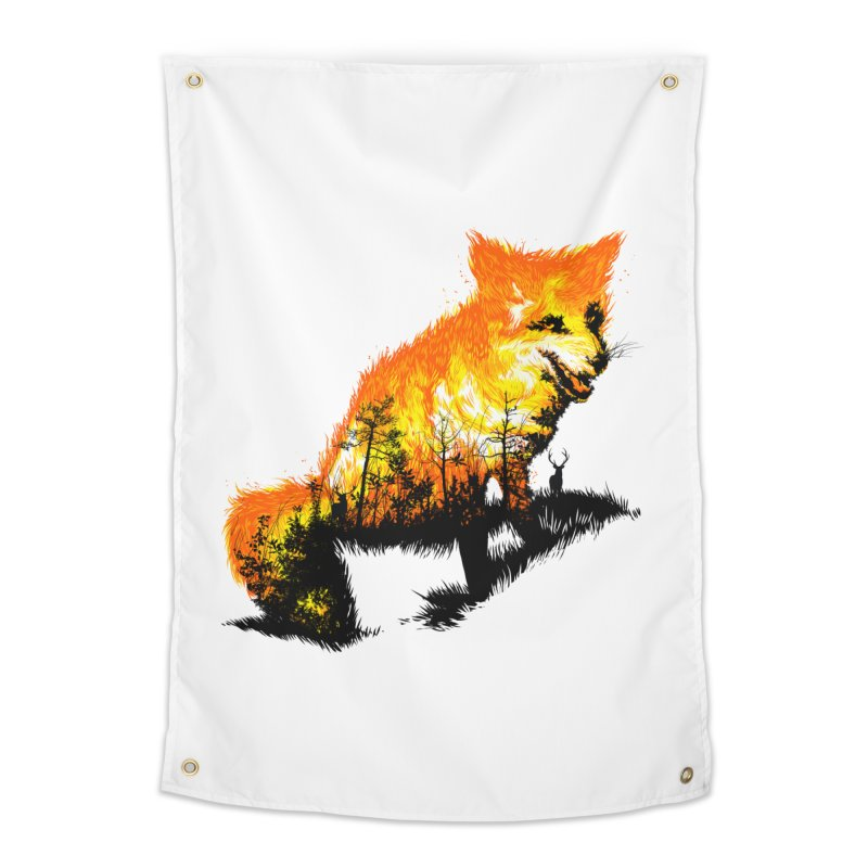 Fire Fox Home Tapestry by kooky love's Artist Shop
