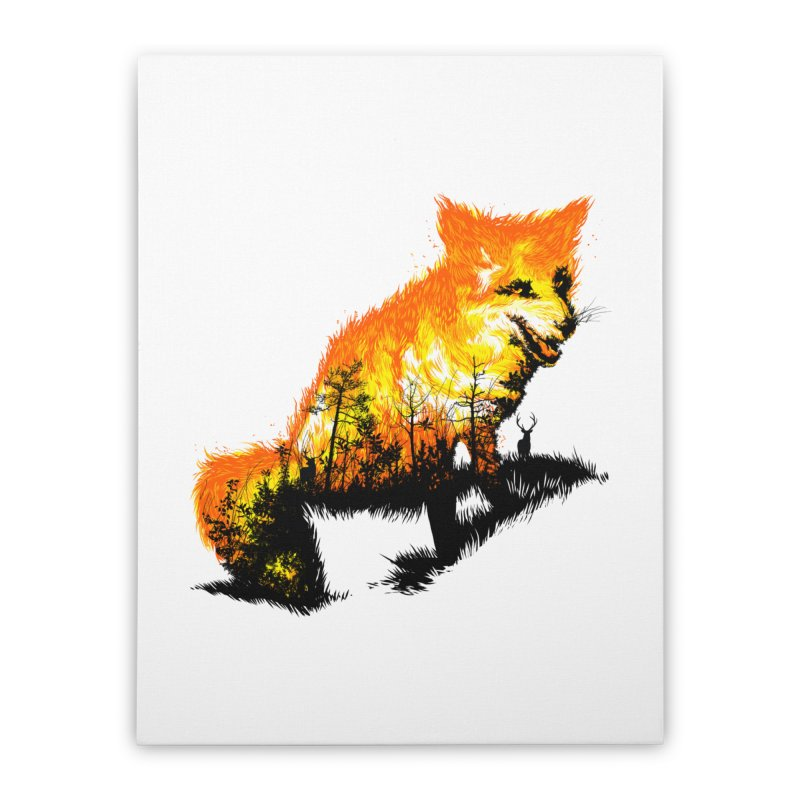 Fire Fox Home Stretched Canvas by kooky love's Artist Shop