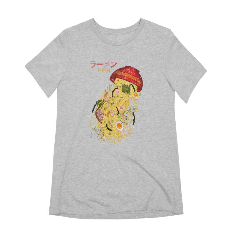 Ramen Fish Women's Extra Soft T-Shirt by kooky love's Artist Shop