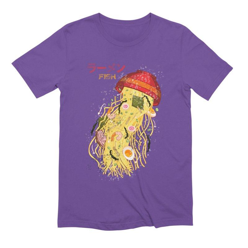 Ramen Fish Men's Extra Soft T-Shirt by kooky love's Artist Shop