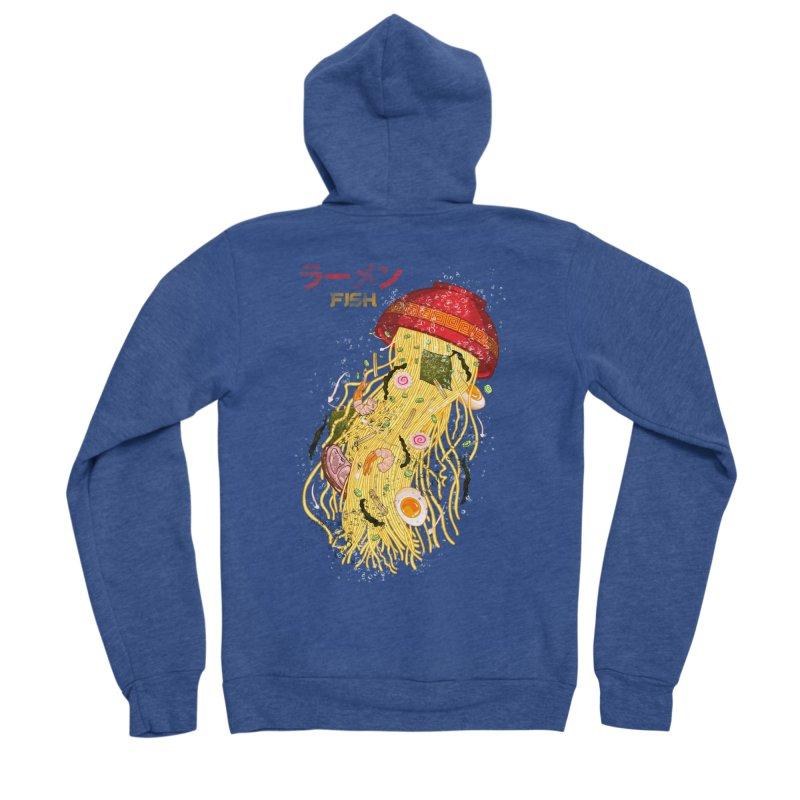 Ramen Fish Men's Sponge Fleece Zip-Up Hoody by kooky love's Artist Shop