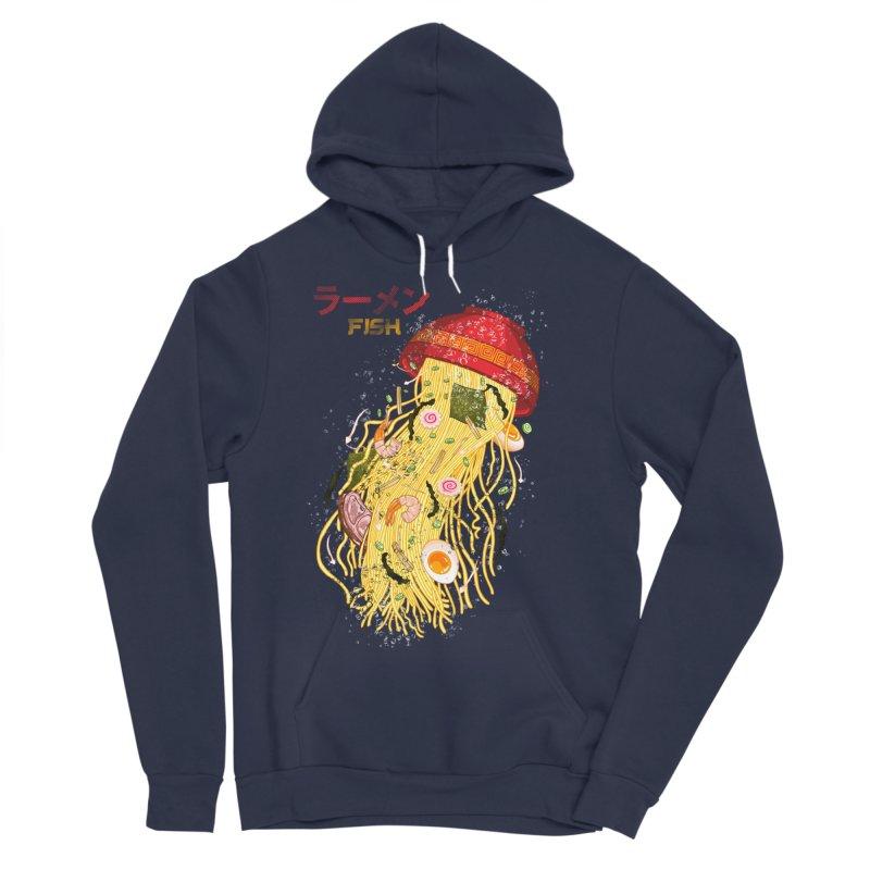 Ramen Fish Women's Sponge Fleece Pullover Hoody by kooky love's Artist Shop