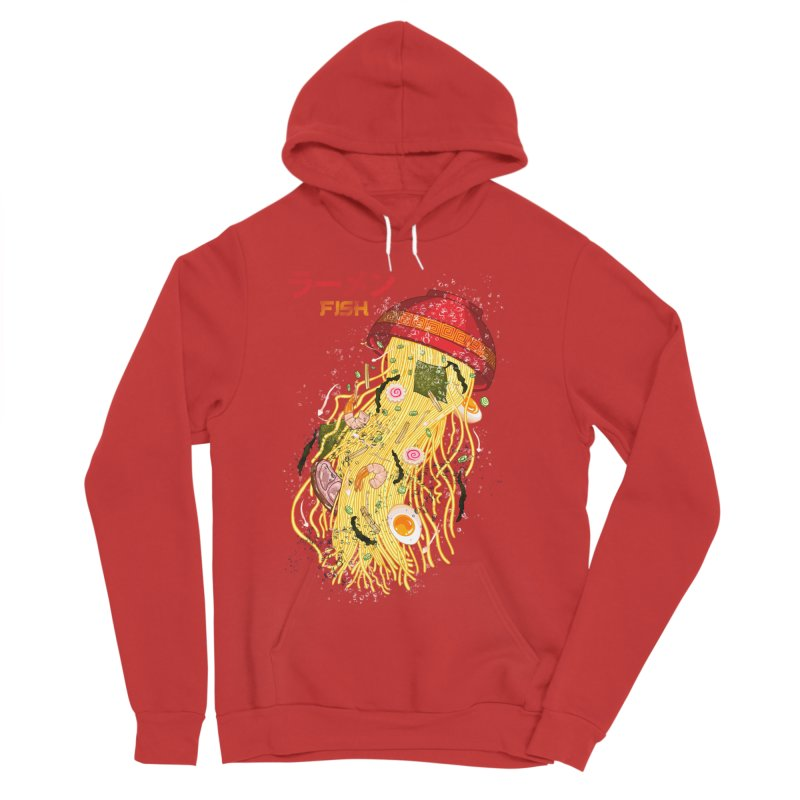 Ramen Fish Men's Sponge Fleece Pullover Hoody by kooky love's Artist Shop