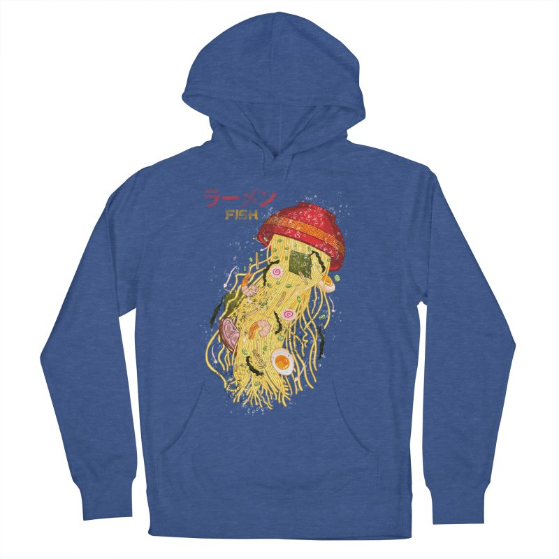 Ramen Fish Women's French Terry Pullover Hoody by kooky love's Artist Shop