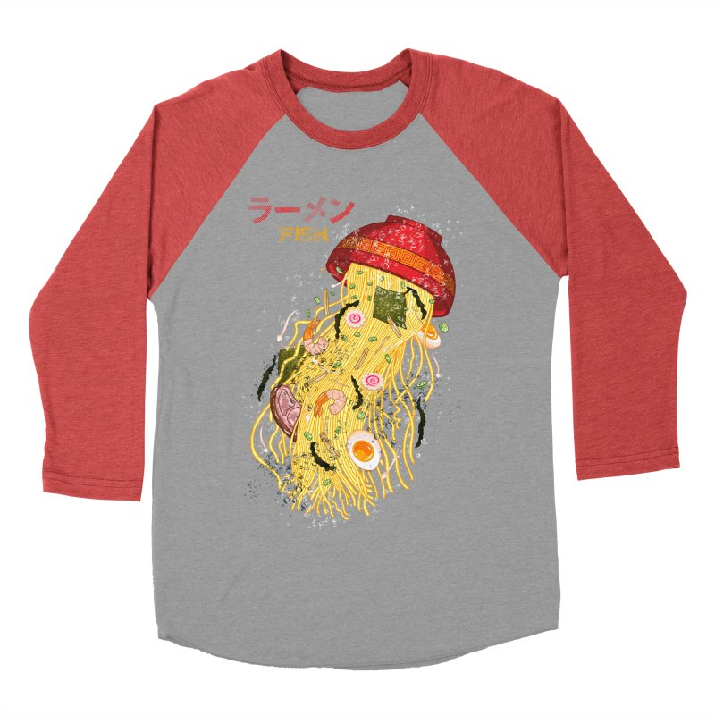Ramen Fish Men's Baseball Triblend Longsleeve T-Shirt by kooky love's Artist Shop