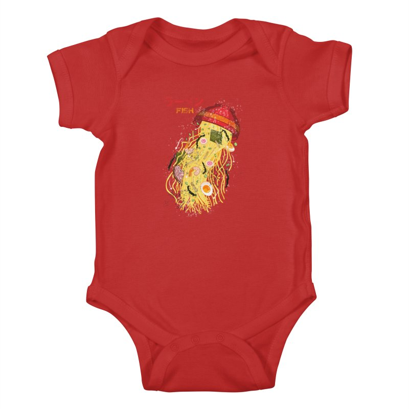 Ramen Fish Kids Baby Bodysuit by kooky love's Artist Shop