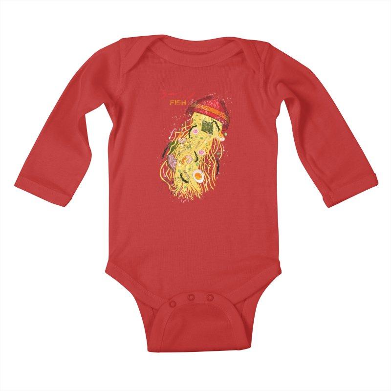 Ramen Fish Kids Baby Longsleeve Bodysuit by kooky love's Artist Shop