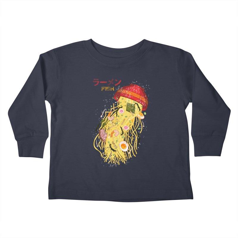 Ramen Fish Kids Toddler Longsleeve T-Shirt by kooky love's Artist Shop