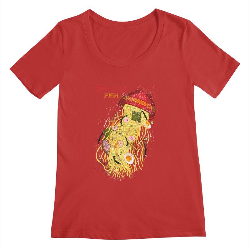 Ramen Fish Women's Regular Scoop Neck by kooky love's Artist Shop