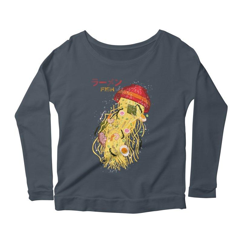Ramen Fish Women's Scoop Neck Longsleeve T-Shirt by kooky love's Artist Shop