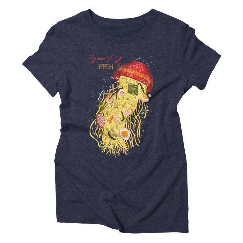 Ramen Fish Women's Triblend T-Shirt by kooky love's Artist Shop