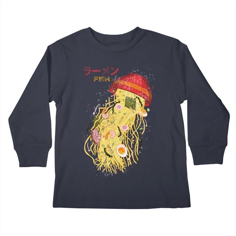 Ramen Fish Kids Longsleeve T-Shirt by kooky love's Artist Shop