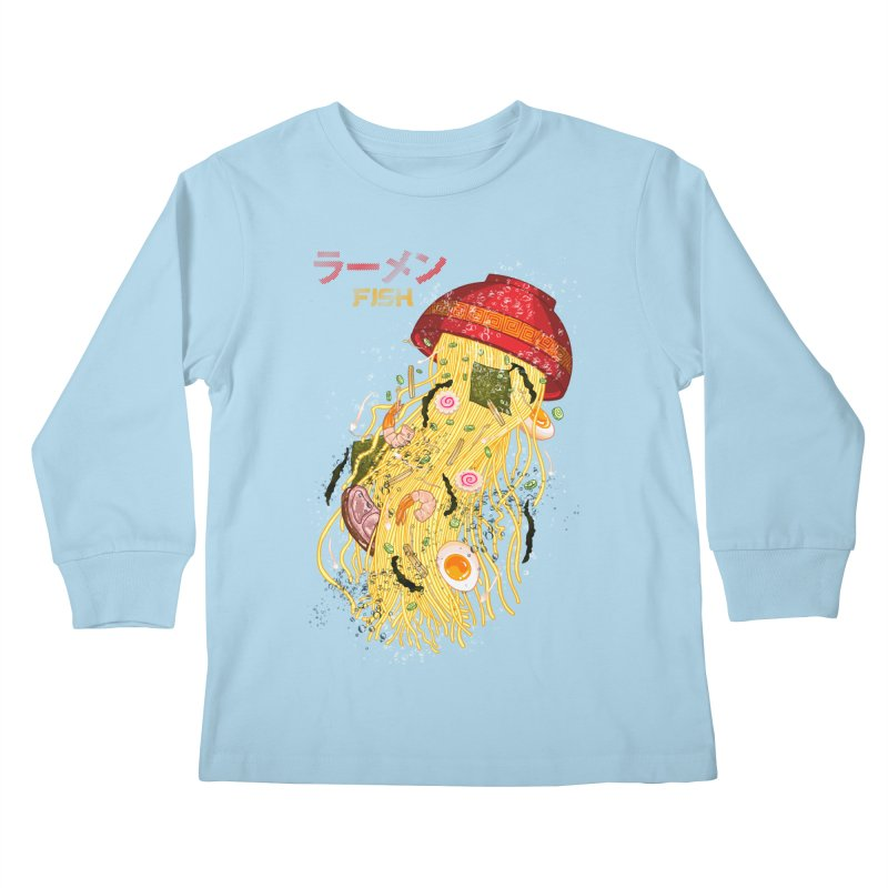 Ramen Fish Kids Longsleeve T-Shirt by kooky love's Artist Shop