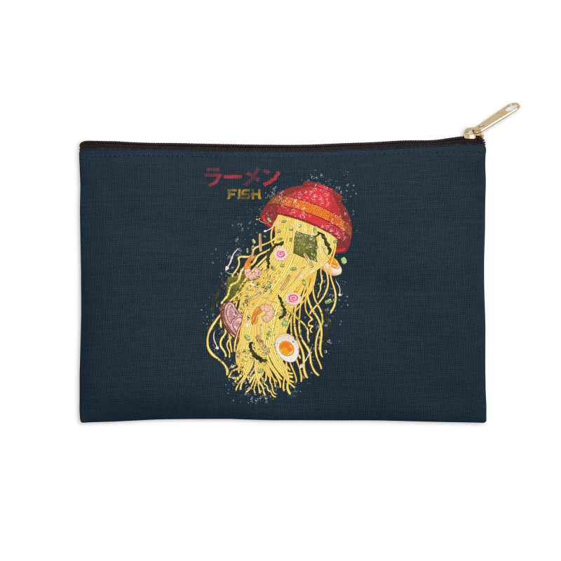 Ramen Fish Accessories Zip Pouch by kooky love's Artist Shop