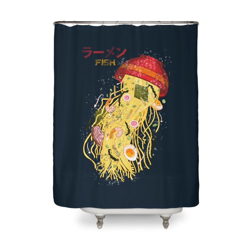 Ramen Fish Home Shower Curtain by kooky love's Artist Shop