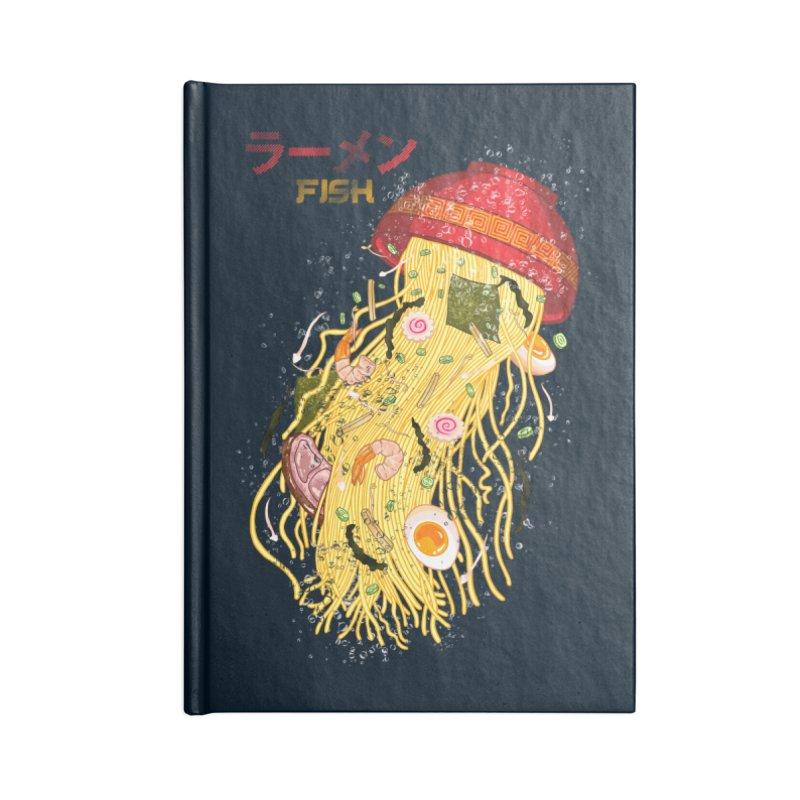 Ramen Fish Accessories Lined Journal Notebook by kooky love's Artist Shop