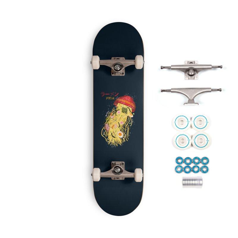 Ramen Fish Accessories Complete - Basic Skateboard by kooky love's Artist Shop