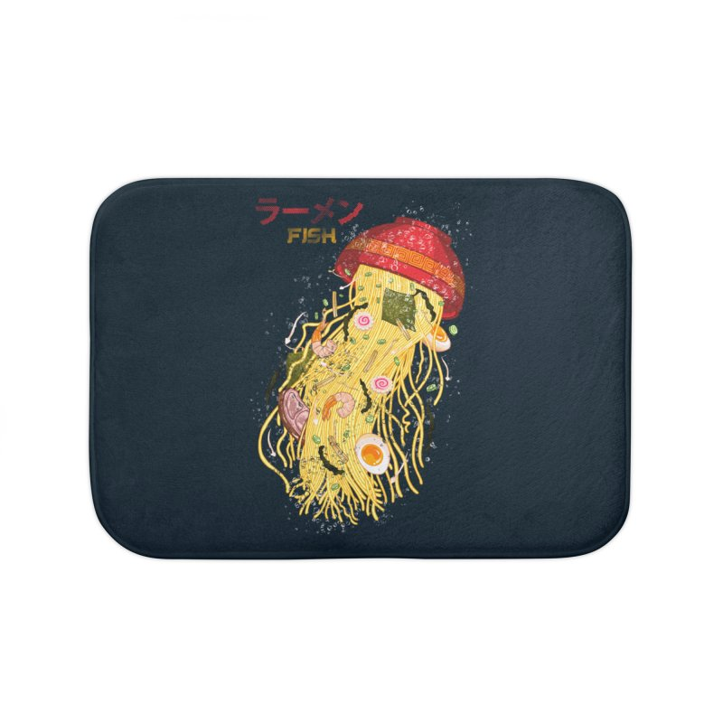 Ramen Fish Home Bath Mat by kooky love's Artist Shop