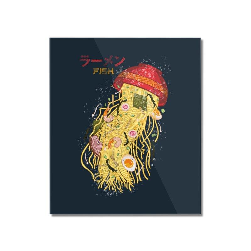 Ramen Fish Home Mounted Acrylic Print by kooky love's Artist Shop