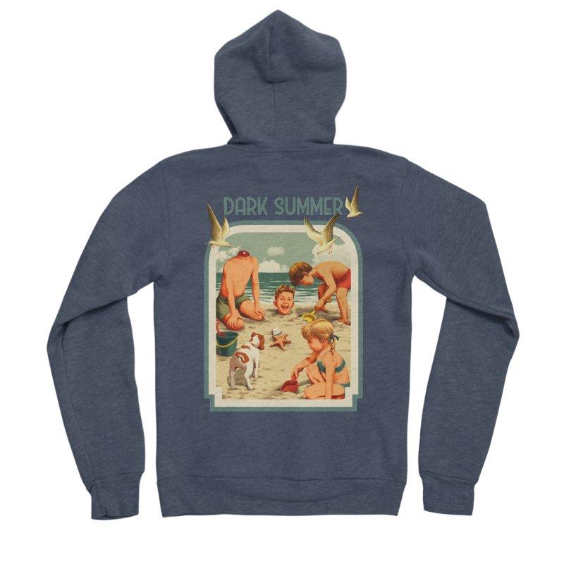 Dark Summer Men's Sponge Fleece Zip-Up Hoody by kooky love's Artist Shop