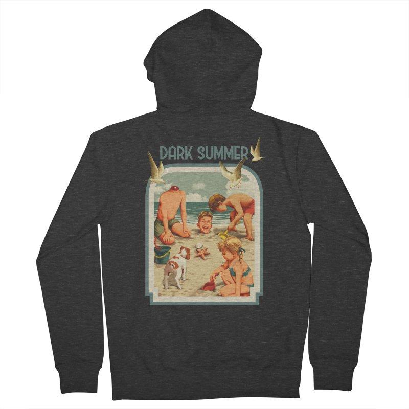 Dark Summer Men's French Terry Zip-Up Hoody by kooky love's Artist Shop