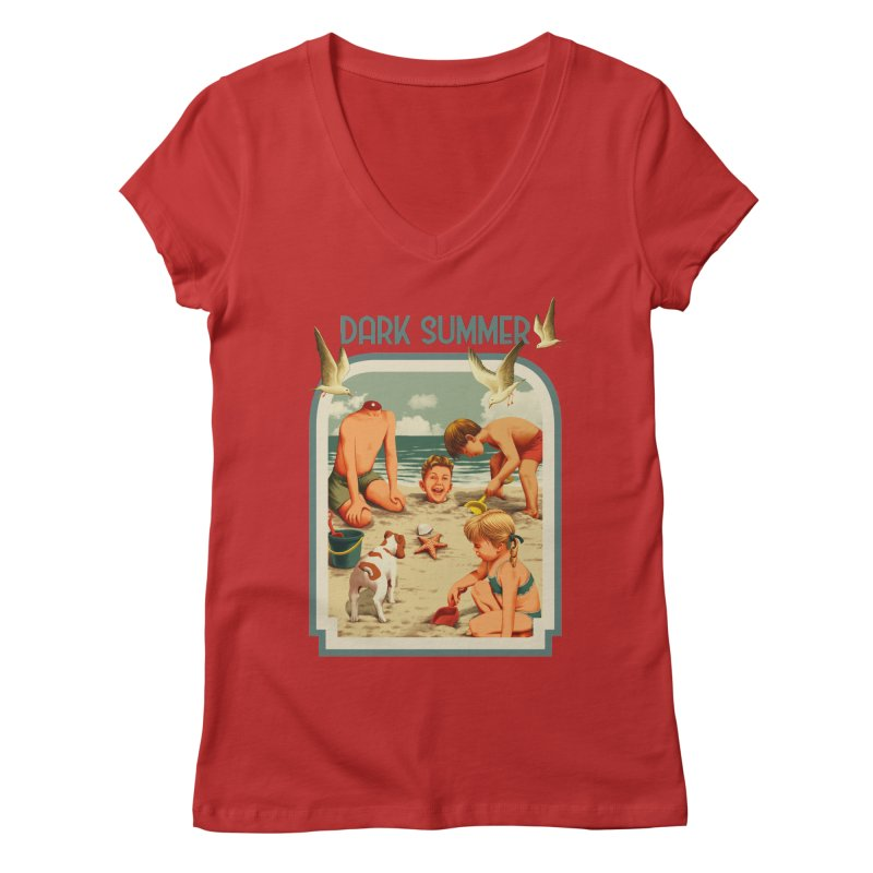 Dark Summer Women's Regular V-Neck by kooky love's Artist Shop