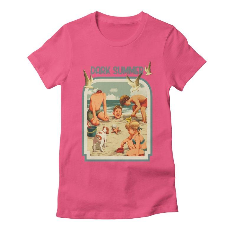 Dark Summer Women's Fitted T-Shirt by kooky love's Artist Shop
