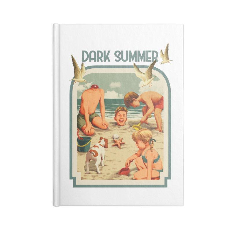 Dark Summer Accessories Lined Journal Notebook by kooky love's Artist Shop