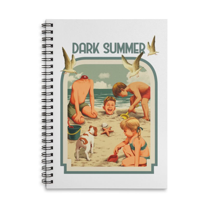 Dark Summer Accessories Lined Spiral Notebook by kooky love's Artist Shop