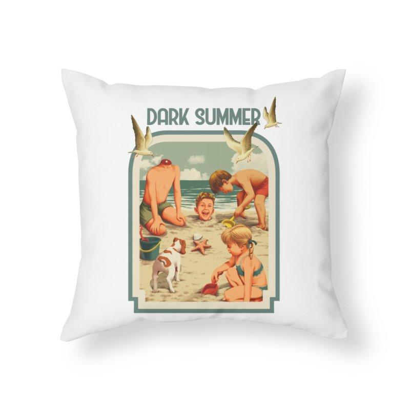 Dark Summer Home Throw Pillow by kooky love's Artist Shop